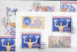 KSZE Europa 1976 CSSR 2335+Block 33,2666+Bl.48 O 24€ UNO Abrüstung CEPT-Mitläufer Hände Halten Kind M/s UN Sheets Bf CSR - Tchécoslovaquie