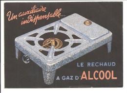 Carte Double, Pub: Le Réchaud à GAZ D'ALCOOL - Publicité