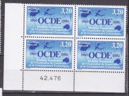 N° 2673 30ème Anniversaire De LO.C.D.E. Sigle Et Dates Sur Planisphères - France