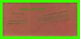 AMSTERDAM, NETHERLAND - CARNETS, FOLDERS SOUVENIR VAN AMSTERDAM - 12 POSTCARDS - - Amsterdam