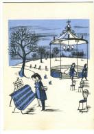 """Rare Carte  J2 MAGAZINE """" Les AMOUREUX  ATTENTION ! MUSIQUE FRAICHE...... """"  Dessin Peynet  Année 60 - Peynet"""