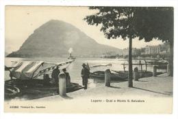 Suisse//Schweiz//Svizerra // Switzerland// Tessin // Lugano-quai Et Monte S.Salvatore - Cartes Postales