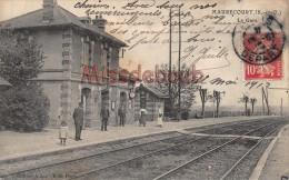 78 - MAURECOURT - La Gare - écrite 1908 - 2 Scans - Maurecourt