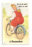 Rocamadour -carte à Système 10 Vues- Bicyclette,vélo - Rocamadour