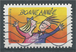 """France, Greetings, Happy New Year, """"Bonne Année"""", 2014, VFU - Used Stamps"""