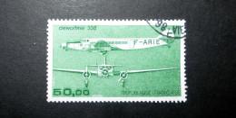 FRANCE POSTE AÉRIENNE 1987 N°60 OBL. (AVIATION CIVILE DE L'ENTRE-DEUX-GUERRES. DEWOITINE 338. 50,00 VERT) - 1960-.... Used