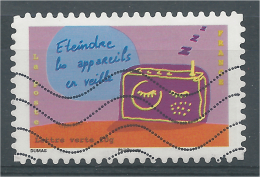 France, Going Green, Switch Off The Electrical Appliances, 2014, VFU - Used Stamps