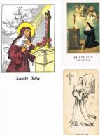 Sainte Rita 3 Cartes Prières - Images Religieuses