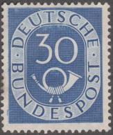 Allemagne 1951 Michel 132 Posthorn, Cor De Poste 30 Pf Neuf Sans Gomme - [7] República Federal