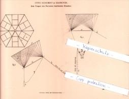 Original Patent - O. Schubert In Hannover , 1893 , Drachen Für Personentransport , Flugschiff !!! - Documents Historiques