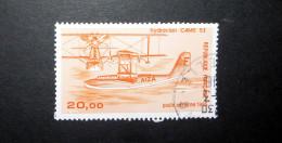 FRANCE POSTE AÉRIENNE 1985 N°58 OBL. (AVIATION CIVILE DE L'ENTRE-DEUX-GUERRES. HYDRAVION CAMS 53. 20,00 ORANGE) - 1960-.... Used