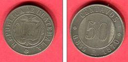 § 50 CENTAVOS  (KM 195 )  TB/  TTB   65 - Guatemala