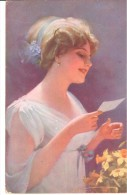 POSTAL   LEYENDO UNA CARTA  - ( READING A CARTE -. LECTURE CARTE ) - Cartoline