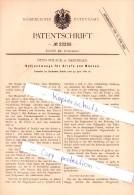 Original Patent - Otto Polack In Meiningen , 1882 , Berlockwaage Für Briefe Und Münzen !!! - Sonstiges Zubehör