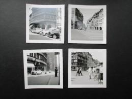 4 PHOTOS FRANCE (M1501) STRASBOURG 1962 (6 Vues) Bâtiment, Voiture, 2 Cv, Vespa, Etc - Places