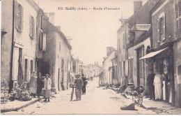 REUILLY BOUCHERIE ANIMEE ROUTE D'ISSOUDUN  RARE ! 1910/1920 EDITEUR A. G. - Autres Communes