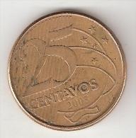 *brazil 25 Centavos 2003  Km 650  Xf+ - Brazilië