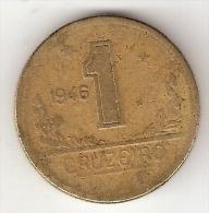 *brazil  1  Cruzerio  1946  Km  558  Vf - Brésil