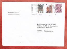 Buecherzettel, MiF SWK Dreifarbenfrankatur, Briefzentrum 41 Nach Stuttgart 2002 (71233) - Briefe U. Dokumente