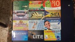 Prepiad Card-( Lot 2)-12 Card Prepiad 10$-used+2 Card Preoiad Free - Télécartes