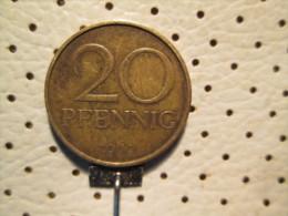 GERMANY GDR 20 Pfenning 1969 - [ 6] 1949-1990 : GDR - German Dem. Rep.