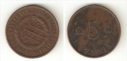 FINLAND - 5 PENNIA 1918 - CIVIL WAR PEOPLE´S COMISSARIAT - - Finland