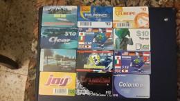 Prepiad Card-( Lot 6)-12 Card Prepiad 10$-used+2 Card Preoiad Free - Télécartes