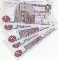 EGYPT 10 POUNDS EGP 2013 2014 P-64d SIG/ HESHAM RAMEZ  #23 LOT X5 UNC NOTES   */* - Egypt