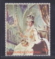 GUINEE EQUATORIALE AERIENS N°  103  ** MNH Neuf Sans Charnière, TB, Couronnement Elizabeth II - Guinée Equatoriale