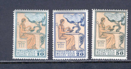 Greece 1934 (Vl C62-64) Charity Set Tuberculosis Without ELLAS MNH - Beneficenza