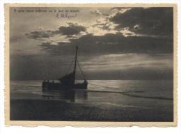 Sint-Idesbald (Koksijde - Coxyde). Zeilboot Aan Het Strand. Voilier à La Plage. Schemering. Crépuscule. - Koksijde