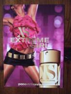XS Extreme Girl Paco Rabanne Parfum Carte Postale - Profumeria Moderna (a Partire Dal 1961)
