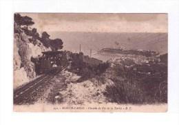 "MONTE CARLO  "" Chemin De Fer De La Turbie"" From Monaco To Zona Guerra 17-2-17 Very Fine - Funicular Railway"