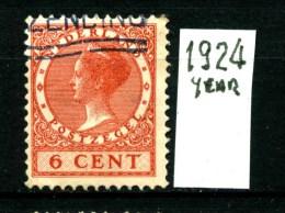 NEDERLAND - OLANDA - Year 1924 - 6 Cent - Usato - Used. - 1891-1948 (Wilhelmine)