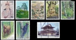 Japan Scott #2447-2454, set of 8  (1994)World Heritage Series, Used