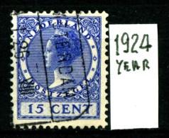 NEDERLAND - OLANDA - Year 1924 - 15  Cent - Usato - Used. - Periode 1891-1948 (Wilhelmina)
