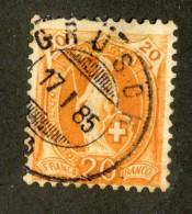 3329  Swiss 1882   Mi.#59XA (o) Scott.#82    Cat. 14.€ -Offers Welcome!- - Gebraucht