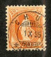 3336  Swiss 1895   Mi.#58YC (o) Scott.#82a    Cat. 3.€ -Offers Welcome!- - Gebraucht