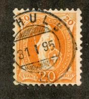 3342  Swiss 1895   Mi.#58YC (o) Scott.#82a    Cat. 3.€ -Offers Welcome!- - Gebraucht