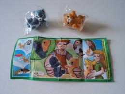 Kinder Surprise FT 023 Natoons - Duo Chats (gris Bleu - Roux) + Bpz - Mountables
