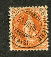3366  Swiss 1901   Mi.#58D (o) Scott.#82b    Cat. 4.€ -Offers Welcome!- - Gebraucht
