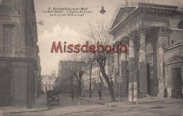 17 - ROCHEFORT SUR MER  -  La Rue Audry - L'Eglise Saint Louis Et Le Lycée Pierre-Loti  - Dos Vierge - 2 Scans - TTBE - Rochefort