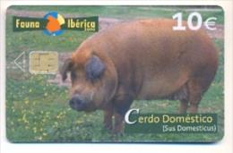 Fauna Ibérica CERDO DOMÉSTICO Usada Perfecta Conservación, CHIP II - Emissions Basiques