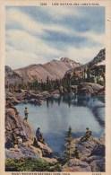 Colorado Lake Haiyaha And Longs Peak Rocky Mountain National Park