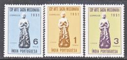 PORTUGUESE  INDIA  524-6    **    VIRGIN  MARY - Portuguese India