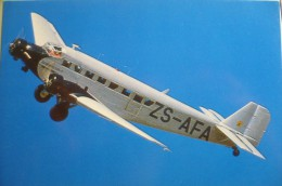 JUNKER JU 52    ZS AFA    AIRLINE ISSUE  SOUTH AFRICAN AIRWAYS - 1946-....: Moderne