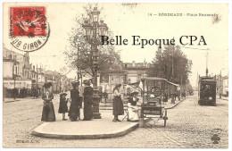 33 - BORDEAUX - Place Nansouty / MARCHANDE De GLACE ++++ Édition A. H. ++++ Vers Paris, 1910 ++++ - Bordeaux