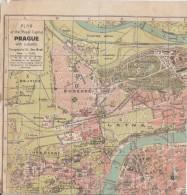 Map Of Prague From 1917 - Geographische Kaarten