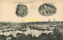 Publicité Belle Jardinière à Bayonne, N° 3, Place Lavigerie Et Place D'Armes, Duchen - Werbepostkarten