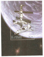 Saint Vincent And The Grenadines T12 1999 Space Shuttle And Space Station MNH - Space